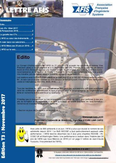 lettre_afis_3emetrimestre_ingenierie_systeme_actualites