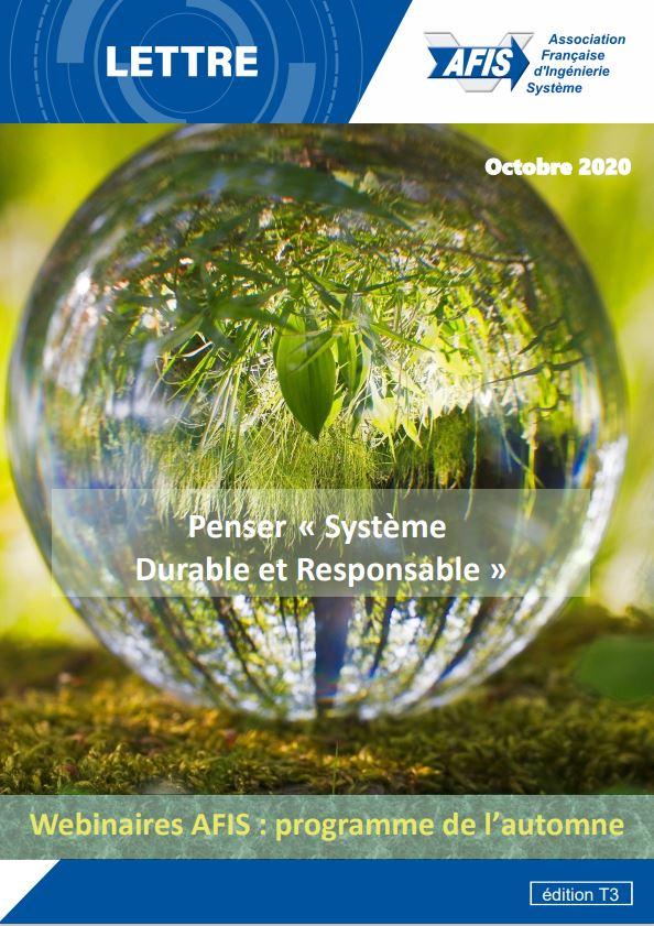 """Lettre AFIS - T3-2020_Penser """"Système Durable et Responsable"""""""