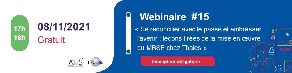"""Webinaire AFIS #15 """"Leçons de la mise en oeuvre MBSE Thales"""""""